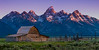 Mormon Barn at Dawn, Tetons, Wyoming, Teton National Park (Judy Yovin Doherty) Tags: barn conditions jacksonhole mormonbarn sunrise tetons wyoming