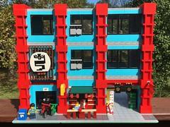 MOC: Lucky Mamba Sweatshop (eurotrash48903) Tags: garmentdistrict sweatshop chinatown modular moc lego