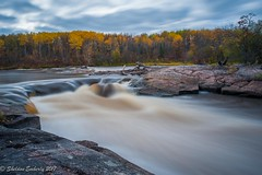 Autumn at Whitemouth Falls (Sheldon Emberly) Tags: autumnleaves granite nature fallleaves