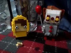 MOC: Inspired Pennywise and Georgie brickheadz (Final Update) (Mr Lego Customs) Tags: brickheadz lego pennywise it moc