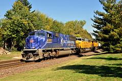 Union Pacific #2002 (Jim Strain) Tags: jmstrain train railroad railway locomotive diesel unionpacific olympictorch missouri webstergroves