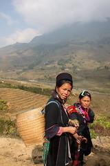 Beatiful strong ladies, Sapa -Vietnam (gabrielfiuza) Tags: landscape light social asia sapa hike vietnam rice countryside portrait travel people