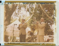 Jazz Age Lawn Party (Dear Deer Fine Art) Tags: polaroid instant film expired largeformat new york