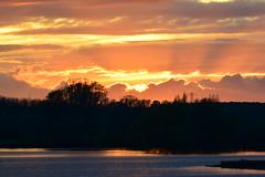 Sunset at Titchmarsh Nature Reserve, Aldwincle, Northants. Uk (Ian J Hicks) Tags: