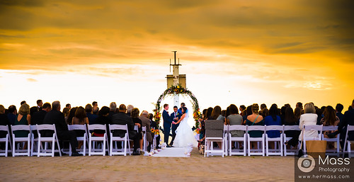 Beach side evening wedding  Photography