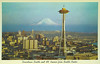 Downtown Seattle and Mt. Ranier from Seattle Center (Thomas Hawk) Tags: america mountranier mtranier seattle spaceneedle usa unitedstates unitedstatesofamerica washington architecture postcard fav10