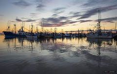 Sunset Harbour (Clayton Perry Photoworks) Tags: vancouver bc canada richmond steveston fall autumn explorebc explorecanada boat sunset