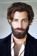 527 (rrttrrtt555) Tags: hair hairy beard jacket chest formal shirt attitude masculine curls eyes mustache stare