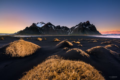 Vestra-Warm (CResende) Tags: vestrahorn sunset mountain water sun color warm iceland lava dunes wind nature d810 progrey cresende nikon stokksnes niceland