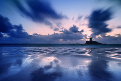 Ink Blot Skies. (Andy Bracey -) Tags: bracey andybracey jersey channelislands saintouen stouen beach sand coast coastal reflection butterfly themagicbutterfly sunset blur motionblur longexposure littlestopper leefilters tower martello martellotower roccotower aperfectevening perfectslies inkblotskies