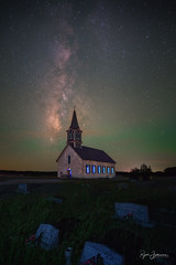 Alluring Olaf (Rajesh Jyothiswaran) Tags: cranfillsgap jesus magical milkyway norway norwegian olaf texas airglow allure astrophotography cemetery christ christmas church color cross faith festive green greenery religion stained tombstone window