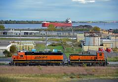 Rail & Sail - Cloudy (Missabe Road) Tags: bnsf 2014 gn 3429 csl assiniboine duluth