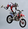 Keep holding on! (PJ Swan) Tags: biker stunt aerial wensleydale agriculturalshow display magicmoments