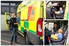 Hospital visiting.. (Mike-Lee) Tags: northerngeneralhospital ae bess mike jill tom ambulance yas ambulanceservice collage picasa oct2017 phonepics phonecam cameraphone people