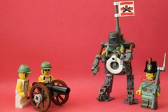 *FIFE AND DRUM INTENSIFIES* (Anglo-Japanese Grenadiers) (gefreiter eugene krabs) Tags: lego military colonization 1800s steampunk mech japan britsh empire imperial cannon marines