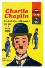 Charlie Chaplin Game Card (grooveisintheart) Tags: charliechaplin cardgame gamecards vintage popart mod 1970s 1972 graphicdesign ephemera