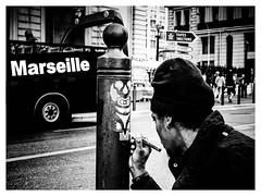 La rue, mais pas que. (francis_bellin) Tags: olympus marathonphotos noiretblanc samedi street marseille rue artiste graf 2017