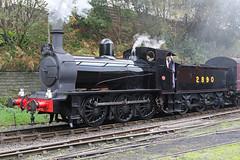 Hunslet 0-6-0, 2890 (QSY on-route) Tags: hunslet 060 2890 east lancashire railway autumn steam gala bury bolton street train
