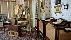 The Royal Nursery (Eleanor (No multiple invites please)) Tags: osbornehouse iow nursery crib cots mirror paintings dollshouse phoneshot nokialumia october 2017