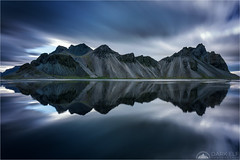 Duality (Maciek Gornisiewicz) Tags: stokksnes vestrahorn iceland europe mountains landscape travel hofn longexposure mirror reflections clouds outdoors nature seascape shore coast atlantic ocean canon nisi 5div 1635mm maciek gornisiewicz darkelf photography duality 2017 symmetry