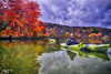 Lakeshore Foliage, 2017.10.23 (Aaron Glenn Campbell) Tags: fssp francesslocum statepark kingstontownship wyoming luzernecounty pennsylvania outdoors optoutside autumn fall foliage leaves vivid vibrant reflections water lake overcast cloudy 3xp ±2ev hdr sony a6000 ilce6000 mirrorless macphun aurorahdr2017 luminar nikcollection colorefexpro sigma 19mmf28exdn wideangle primelens emount