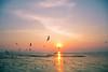 BANGPU, THAILAND (Kritaya Sivakomen) Tags: landscape sunset dusk sea beach nature thailand samutprakarn bangpu coast seasi ocean evening sky shore outdoor cloud water