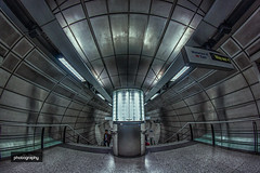 3/31 The light in the space station. (Alex Chilli) Tags: london underground metro subway concourse platform light silver chrome metal future futuristic october photoaday challenge photography