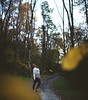 Lost (wingardium leviosa.) Tags: girl self portrait selfportrait leaves tree woods forest fall autumn canon canon5dmarkiii 50mm 50mmf14 5dmarkiii 5d people expansion vsco bokeh alone sad tired