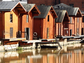 Wooden Storehouses by the River IV, Porvoo, Finland, 17 September 2017