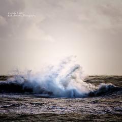 Crashing wave (rhfo2o - rick hathaway photography) Tags: rhfo2o canon canoneos7d elmer elmersands bognorregis westsussex waves storm stormbrian sea seaside seadefences roughweather sky beach
