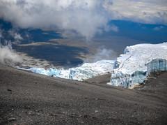 Sheets (RoamingTogether) Tags: africa glacier hdr hiking kilimanjaronationalpark mountkilimanjaro nationalpark panasonic panasonic1442powerois panasoniclumixdmcgf3 rebmannglacier tanzania uhurupeak