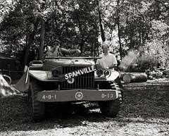 Spamville (johnlishamer.com) Tags: 120 2017 6x7 bw ilfordhp5plus400 ilfosol3 lishamer mamiyarb67prosd midwayvillagemuseum reenactment reenactors rockfordil seiko90mmf35kl wwiidays worldwariidays army film johnlishamercom mediumformat sunshine