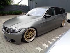 BMW 3er Touring (911gt2rs) Tags: treffen meeting show event tuning tief stance e91 e90 kombi wagon bimmer grau grey bbs felgen wheels rims
