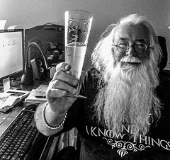 2017 - photo 304 of 365 (old_hippy1948) Tags: selfportrait monochrome drink