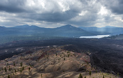 Lassen's Painted Dunes from Cinder Cone (acase1968) Tags: lassen painted dunes cinder cone snag lake volcanic national park volcano lava forest clouds nikon d750 nikkor 24120mm f4g
