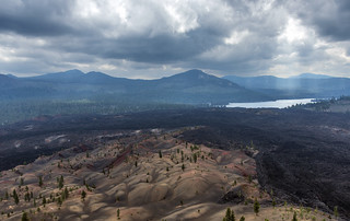 Lassen's Painted Dunes from Cinder Cone