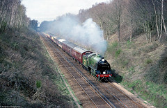 (Articdriver) Tags: maunsell s15 828 steam locomotive railway trains track trees fareham hampshire southern southernrailway