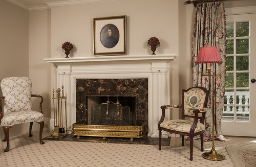 Early 1900s Greek Revival Bath and Fireplace 009