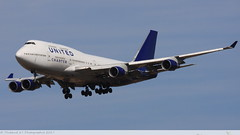 Boeing 747 -422 UNITED CHARTER N194UA 26892 Ramstein aout 2015 (Thibaud.S.) Tags: boeing 747 422 united charter n194ua 26892 ramstein aout 2015