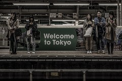 Welcome to Tokyo (karinavera) Tags: city night photography urban ilcea7m2 85mm people tokyo japan train station