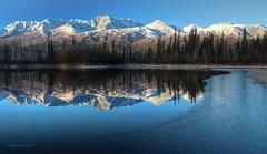 Border Ice (Katy on the Tundra) Tags: ice reflections