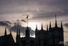 Sun setting on Westminster Abbey. (fluttography) Tags: parliament england london housesofparliament westminsterabbey greatbell bigben nikond750 nikon uk palaceofwestminster unitedkingdom