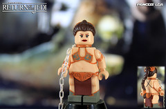 Custom LEGO Star Wars: Return of the Jedi | Princess Leia (LegoMatic9) Tags: custom lego star wars episode vi return jedi princess leia slave minifigure