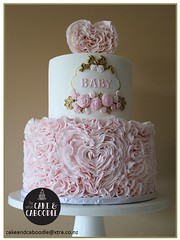 daddys little princess (The Whole Cake and Caboodle ( lisa )) Tags: baby babyshower whangarei thewholecakeandcaboodle caboodle cake cakes girl pink frills frill roses hearts heart