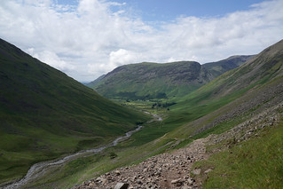 Lingmell Beck from Great Gable