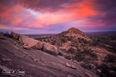 HILL COUNTRY SUNSET:  Enchanted Rock State Natural Area at sunset. (CharlesSmithPhotography) Tags: features parks texas boulder boulders climb climbing clouds counties country enchantedrock feature fitness granite hike hiking hill kerrcounty kerrville land landscape landscapephotography landscapes llano llanocounty mountain natural nature park poi pointofinterest pointsofinterest recreation sky statepark stone stones stoney terrain topographical topography