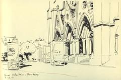 Quai Mullenheim - Strasbourg (lolo wagner) Tags: croquis sketch usk urbansketchers strasbourg eglise