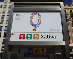 Metro Station Sign in Valencia