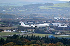 French Air Force A-340 landing at Prestwick (Allan Durward) Tags: frajb frenchairforce pik egpk prestwick prestwickairport a340 a342 a340200 airbus340 cotam road a77 traffic cars vehicles glasgow scotland military ayr countryside view