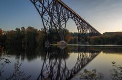 Soo Line High Bridge (Paul Domsten) Tags: arcolahighbridge stillwater stcroixriver river fall autumn tree water sky forest pentax railroadbridge bridge